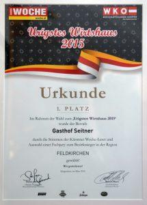 Urigsten Wirtshaus Kärntens 2015