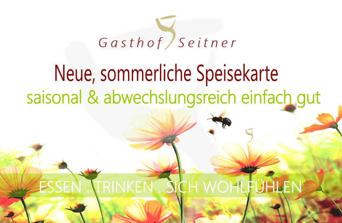 Sommerkarte Gasthof Seitner