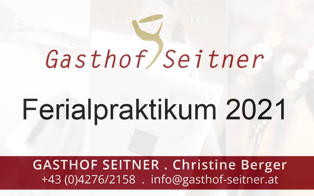 Praktikum 2021 Gasthof Seitner