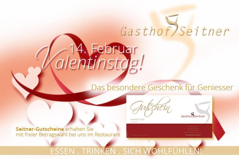 Gutschein zum Valentinstag