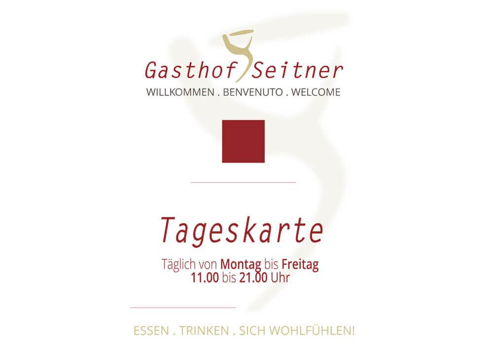 Tageskarte Gasthof Seitner