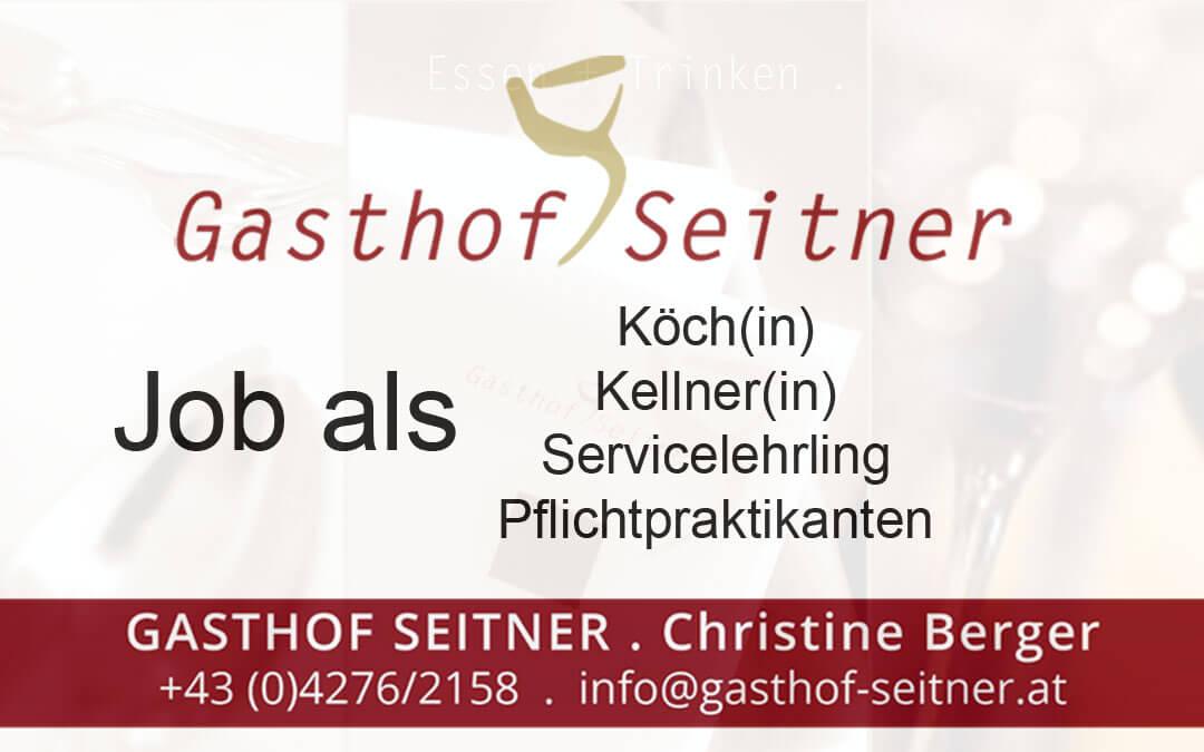 Job beim Gasthof Seitner